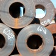 Royalty-Free Stock Photo: Rolls of steel sheet