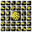 Chinese Cloud Icons — Stock Vector