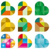 Puzzle coeur — Vecteur
