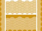 Auspicious golden wave — Stock Vector