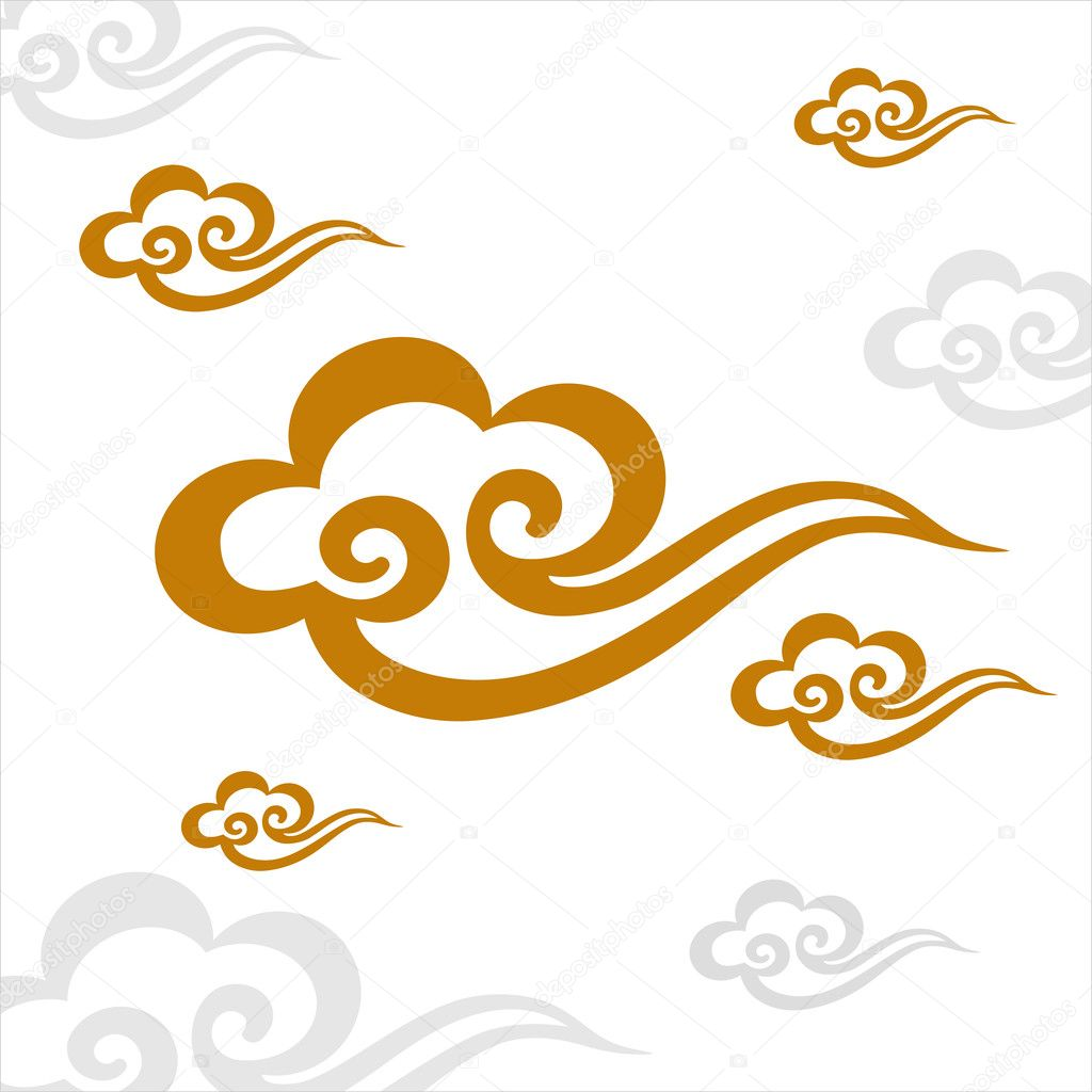 Chinese cloud stock vector dpp2012 11778783 for Chinese vector