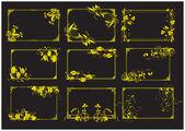 Aureate frames decorative pattern — Stock Vector