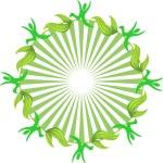 Green leaves — Stock Vector #11435571