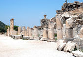 Pillars at Ephesus, Izmir, Turkey, Middle East — Stock Photo