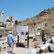 Tourist in Ephesus, Turkey. — Stock Photo