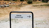 Direction to the Odeon, Ephesus, Turkey — Stock Photo