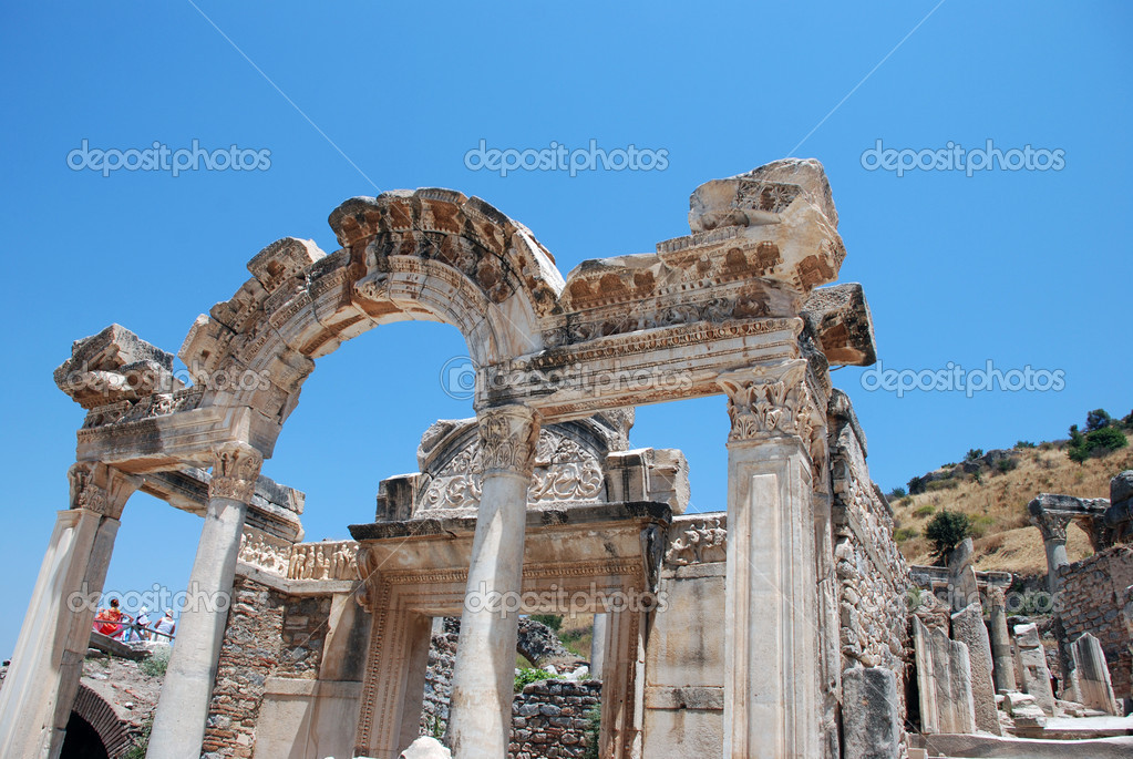 Temple of Hadrian, Ephesus, Turkey,   Stock Photo #10962477
