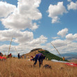 Stock Photo: Preparation for enjoyment Paragliding in Macedonia