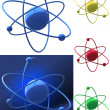 Representation of an atomic structure — Stock Photo