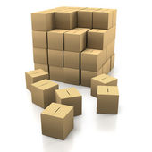 Stacking Cardboard Boxes — Stock Photo