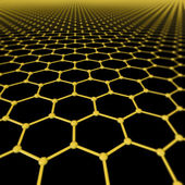 Background of graphene molecules — Stock Photo
