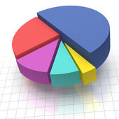 Pie Chart on Squared Graph Paper — Stock Photo