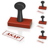 Rubber Stamp with different commercial messages — Stock Photo