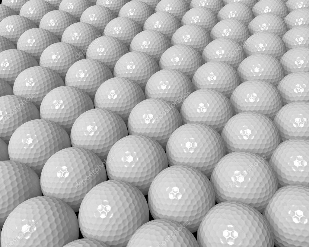 Many golf balls forming a background — Stock Photo #10917160