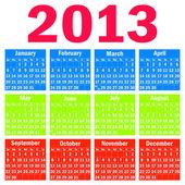 Calendar 2013. — Stock Vector