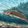 Siberian trout — Stock Photo