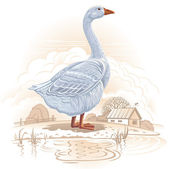 Graphical goose — Stock Vector