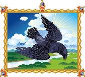 народные ворон — Cтоковый вектор