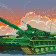 Stock Vector: The tank