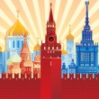 Image of Moscow — Stock Vector