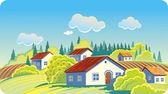 Vila cabana — Vetor de Stock