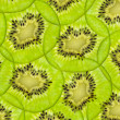 Fresh juicy kiwi fruit slice background — Stock Photo #11374972