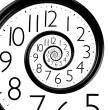 Stock Photo: Infinity time spiral clock