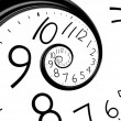 Royalty-Free Stock Photo: Infinity time spiral clock