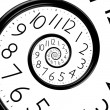Infinity time spiral clock — Stock Photo #11375123