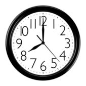 Black and white wall clock — Stockfoto