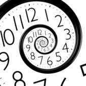 Infinity time spiral clock — Stockfoto