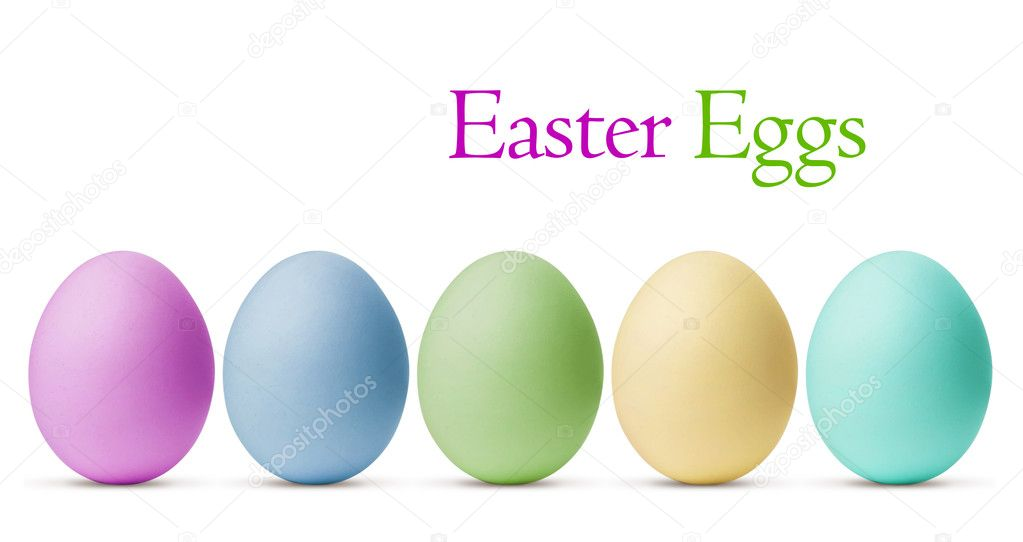Colorful Easter Eggs isolated on white background with clipping — Stock Photo #11375292