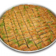 A Tray of Baklava - Including clipping path. — Stock Photo