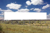 Blank Wide Billboard - Including clipping path around blank area — Stock Photo