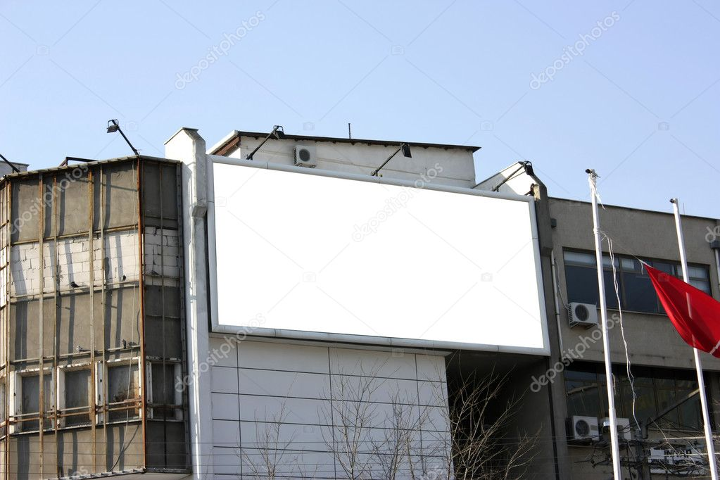 Blank Billboard - Including clipping path around blank area — Stock Photo #11856707