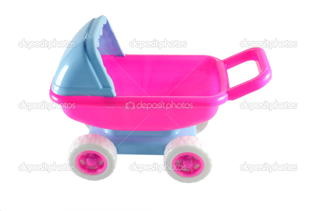 Plastic Toy Baby Carriage — Stock Photo #11920293
