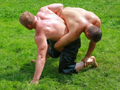 Oil wrestlers — Stock Photo