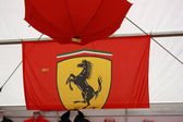 Ferrari flag at merchandise store on Formula 1 Istanbul GP — Stock Photo