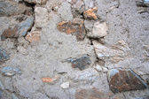 Old stone and mud wall background horizontal — Stock Photo