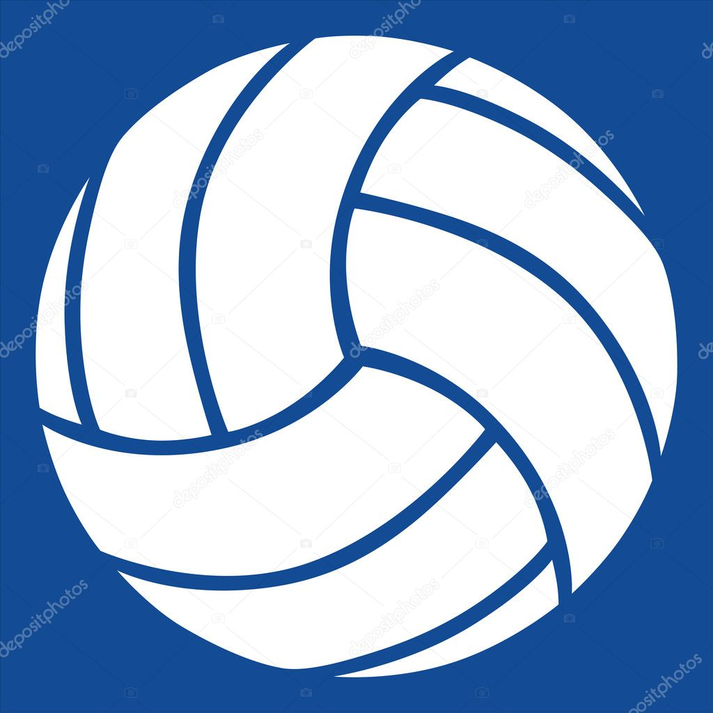 Free Black And White Volleyball Clip Art