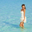 A bride in the sea — Stock Photo #11897173