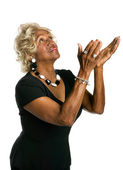 African-American woman in praise — Stock Photo