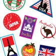 Vector de stock : Country travel sticker