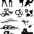hip hop grafische pictogram — Stockvector