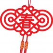 Chinese new year ornament — Stock Vector