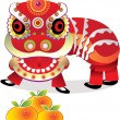 Lion dance — Stock Vector #11456779