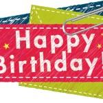 Vector - Happy Birthday card — Stock Vector