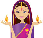 Indian women — Stock Vector