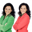 Brunette executive twin — Stockfoto