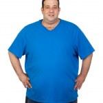 Happy fat man — Stock Photo